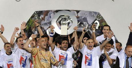 Lyon celebrate their Ligue 1 title