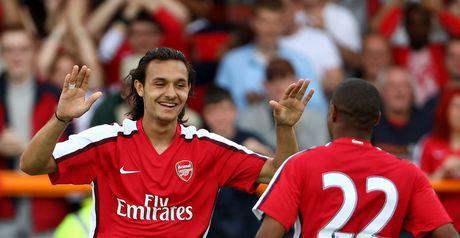 Barazite celebrates Arsenal's winner