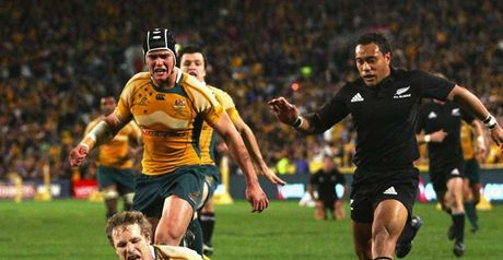 Hynes scored Australia's second try in the 31st minute