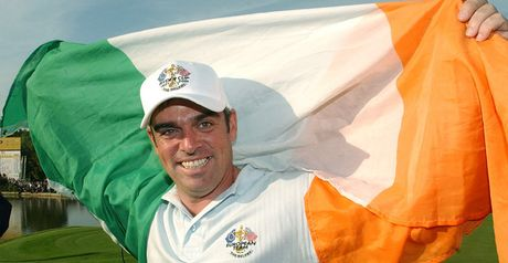 A joyous McGinley flies the flag