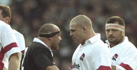 Hewitt and Cockerill face-off during the haka