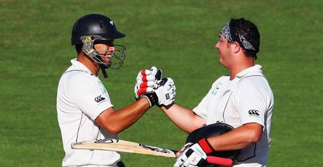 Taylor (left) and Ryder: double century partnership