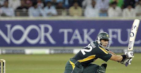 Misbah: In action against Australia