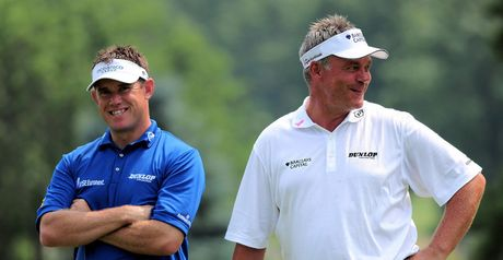 Clarke (right): backing Lee Westwood to win a major in the near future