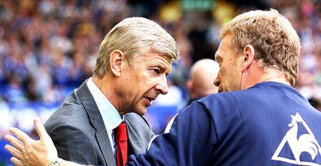 David Moyes and Arsene Wenger will lock horns on Wednesday