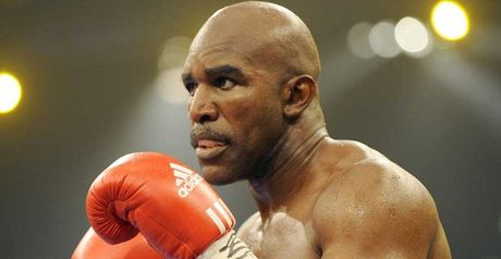 Holyfield: Vowed to return