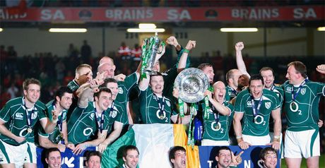 Ireland celebrate their 2009 Grand Slam success