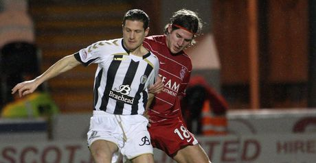 Davide Grassi (R): Former Aberdeen defender has agreed to join Dundee
