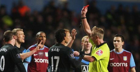 Nani: Shown the red card