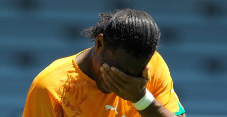 Drogba: At the double for Ivory Coast