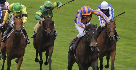 Lillie Langtry wins at Royal Ascot.