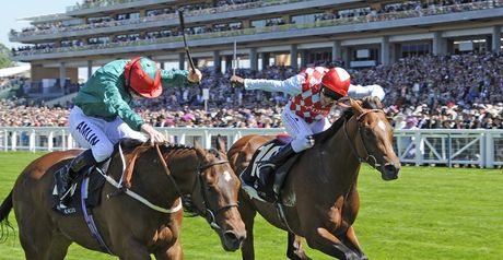 Rainfall beats Red Jazz in the Jersey Stakes.