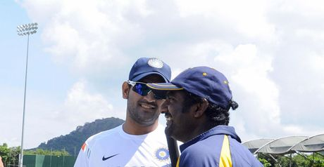Friendship: Dhoni (left) and Muralitharan