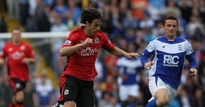 Kalinic: Has brought an end to his two-year spell at Blackburn by joining Dnipro for an undisclosed fee