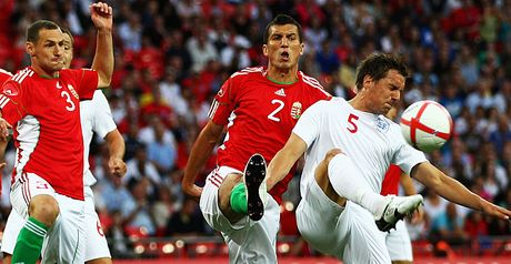 Liptak in action for Hungary against England