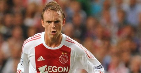 De Jong: Scored a double as Ajax beat Heracles to go top