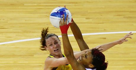 Sonia Mkoloma in action against world champions Australia