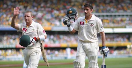 Haddin and Hussey both scored big tons for the hosts