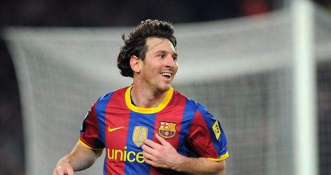 Going for a hat-trick: Lionel Messi