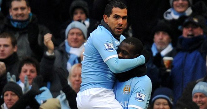 Tevez celebrates early goal