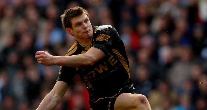 Biggar: kicked 14 points for hosts