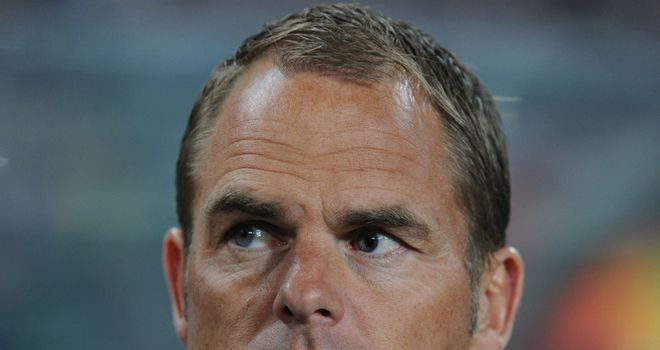 De Boer: Wants striker to 'make things happen in the final stages'