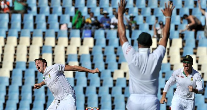 Morkel: became 13th South African to take 100 Test wickets