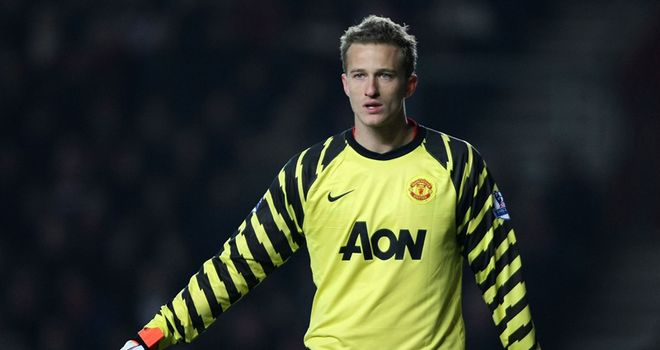 Lindegaard: Determined to stake his claim to be Man Utd's first-choice goalkeeper