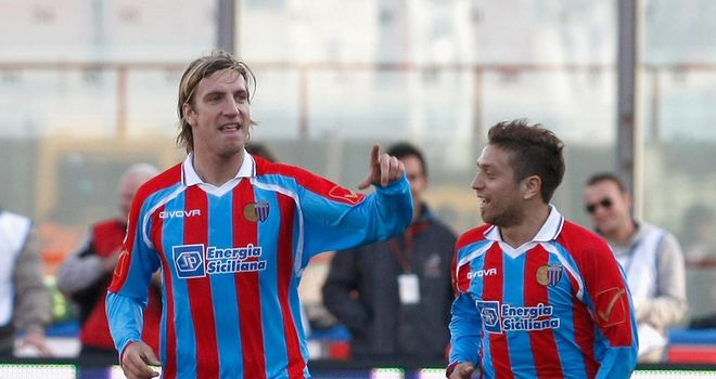 Maxi Lopez: The Catania striker is rumoured to be on the wish-list of Italian giants AC Milan