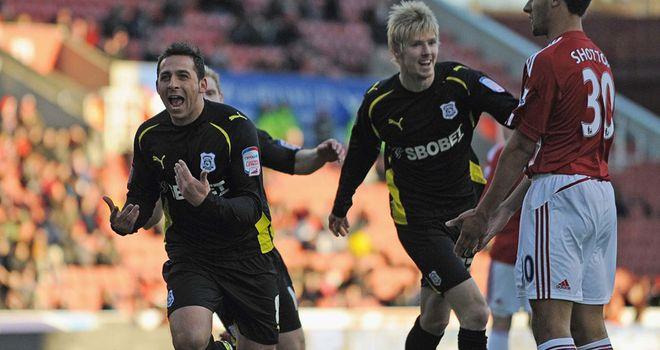 Chopra: Opened the scoring at Stoke