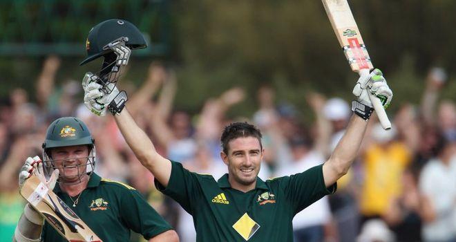 Seized chance: Marsh's 110 rescued Australia's innings