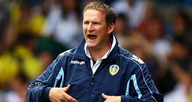 Grayson: Leeds boss keen to bolster his squad with striker signing