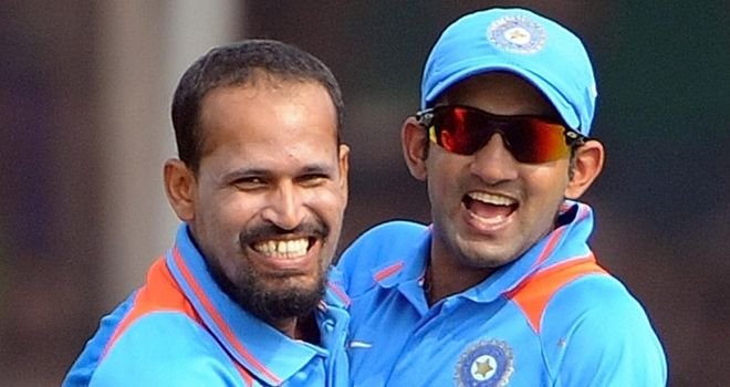 Pathan (L) and Gambhir will play for the Kolkata Knight Riders