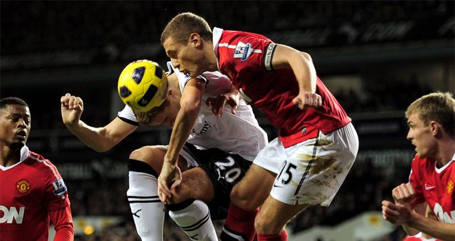 Vidic: superb against Spurs