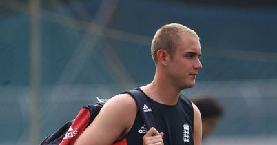 Feeling unwell: Broad has been struck down by stomach trouble