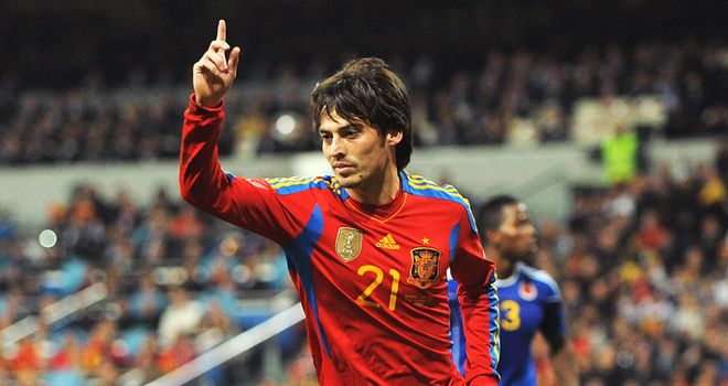 Silva: Frustrated by his lack of action for Spain under Vicente Del Bosque