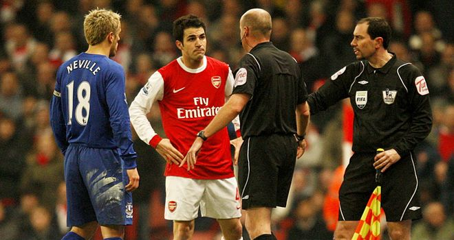 Fabregas: Accused of confronting officials