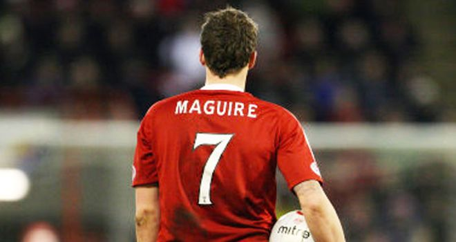 Maguire: Set to turn his back on Aberdeen in favour of a move to Derby in the summer