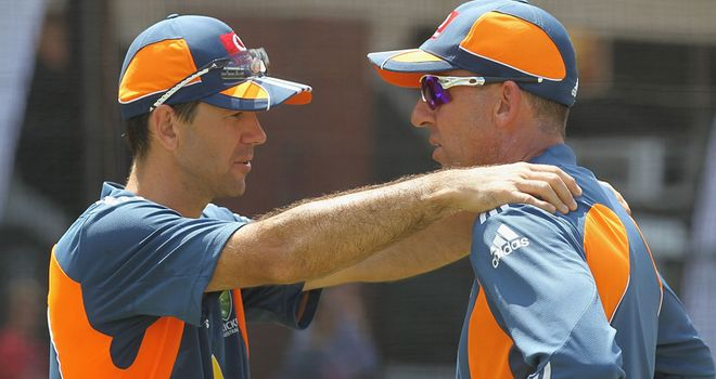 Ponting works on his fitness with Tim Nielsen