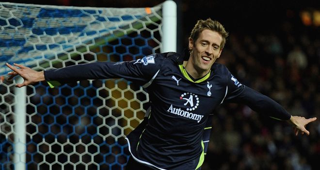 Crouch: Celebrates early winner