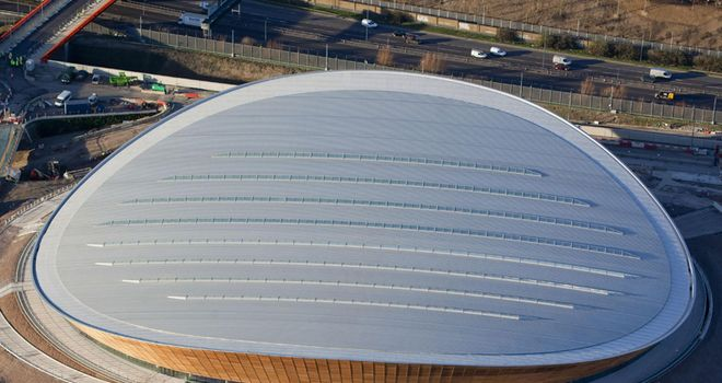 The 6,000-seat velodrome is the first venue at the Olympic Park to be completed.
