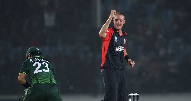 Five-star show: Broad took his tally to 10 wickets in two warm-up games
