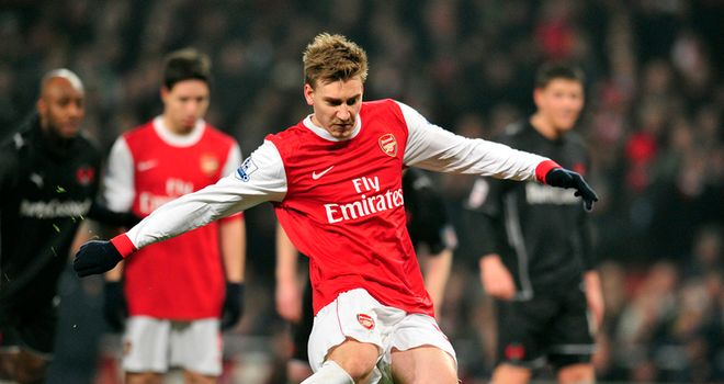 Bendtner: Has featured mainly from the bench