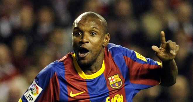 Eric Abidal: Is yet to pen a new deal at Barca and interest in his services is mounting