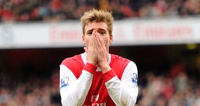 Bendtner: Frustrated by a lack of first-team football