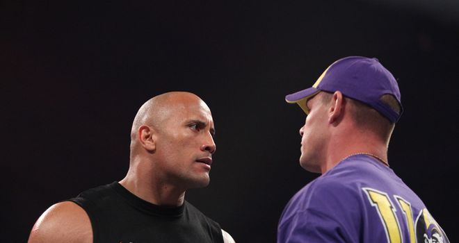 The Rock and John Cena feuded at WrestleMania 28 and 29