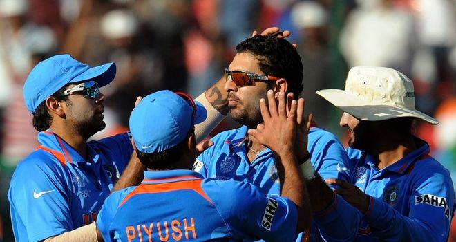 All-round masterclass: Yuvraj took 5-31 and scored 50 not out