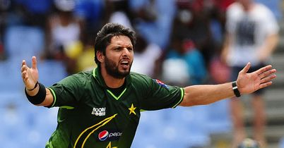Afridi: oversaw another victory for in-form Pakistan in St Lucia