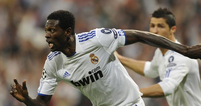 Adebayor: On loan with Real Madrid from Manchester City