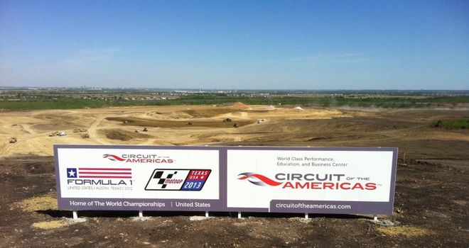 Doubt: Construction at Circuit of the Americas has stopped